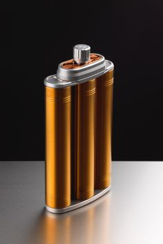 Ballven Fuel Cell - A titanium and stainless steel hip flask by Stephen Ball & Gregory Venters — Kickstarter