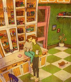 Amor son los pequeños gestos de ternura que suman y siguen, sobretodo en mis dias felices.
