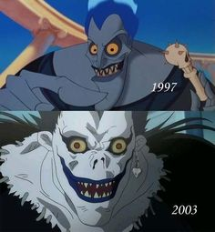 To be honest the first time I saw Ryuk I was like *You're Joker's demon form* but after I saw some comments and talk with few crazy and awesome people I came to a realization that Ryuk. The child of Joker and Hades 😂 Death Note Funny, Death Note L, Manga Anime, Geeks, Anime Mems, Shinigami, Funny Anime Pics, Naruto Funny, Anime Crossover