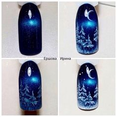 15 step-by-step Winter Nails Art Tutorials for learning .- × – nail design – # 15 step by step winter nails art tutorials for learners 20185 gif # nail design - Nail Art Noel, Xmas Nail Art, Christmas Nail Art Designs, Holiday Nail Art, Xmas Nails, Winter Nail Designs, Winter Nail Art, Cool Nail Art, Winter Nails