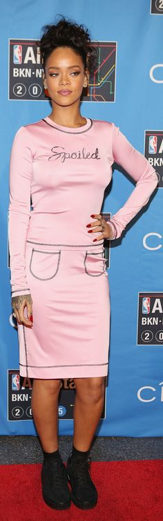Rihanna wears this Fall 2015 designer's look first.