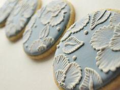 Wedgewood blue cookies