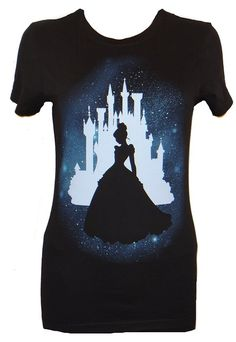 Disney Cinderella Star Silhouette Juniors T-shirt Officially licensed Disney T-shirt Juniors are designed for teenagers or smaller women and have a more fitted look. Printed and Designed by Mighty Fine Cinderella is ready for the ball on this tee. Disney T-shirts, Disney Style, Disney Trips, Disney Bound, Bleach Shirts, Bleach Art, Disneybound Outfits, Disney Outfits, Cool Ideas