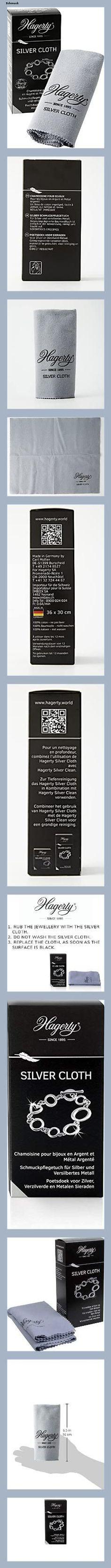 Hagerty Silver Cloth Schmuck Reinigungstuch 36x30cm I imprägniertes Tuch aus Baumwolle I effektives Silberputztuch mit Anlaufschutz zur Reinigung von Silberschmuck und Versilbertem - 153f