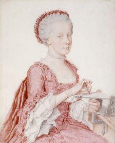 Liotard - Portrait de Maria Amalia, archiduchesse d'Autriche, future duchesse de Bourbon-Parme (1746-1804), 1762