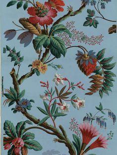 Titre : [Papier à motif répétitif] : [papier peint] Éditeur : Jacquemart et Bénard (Paris) Date d'édition : 1799