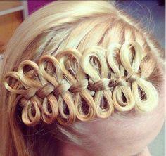 crazy hair knotting