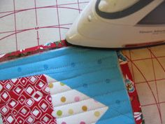 Easy Peasy Binding for a Mug Rug using one piece of fabric for the back and binding