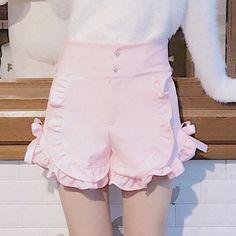 Sweet Falbala Tall Waist Shorts