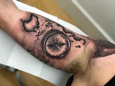 8da9b32f5 Map and Compass tattoo by Cristian. Limited availability at Salvation Tattoo  Studios. Salvation Tattoo