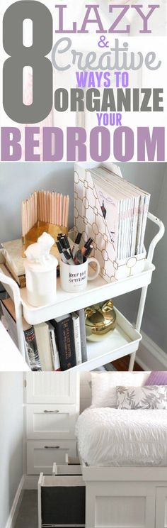 Organizing your bedroom isn't as hard as it seems. These 8 bedroom organization hacks will help you get the job done. Pinning for later!