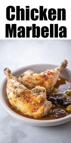 Chicken Marbella #chickenmarbella Make a delicious and unusual chicken dinner with this recipe for Chicken Marbella. Mediterranean inspired, this roasted chicken dish is packed with flavor from stewed prunes and olives. It's the perfect quick weeknight meal! #chickendinner #easydinner #chickenmarbella Chicken Marbella #chickenmarbella Make a delicious and unusual chicken dinner with this recipe for Chicken Marbella. Mediterranean inspired, this roasted chicken dish is packed with flavor from ste