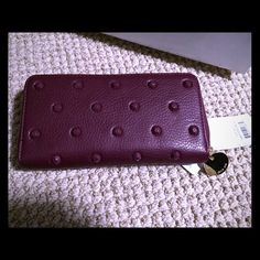 Purple studded Deux Lux wallet Brand new never used, stunning and eye catching purple studded wallet with gold hardware accents Deux Lux Bags Wallets