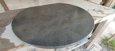 Flat back 1000mm circle. Hand made in Bristol for one of our hearth customers