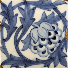 ¤ Artichoke ceramic blue on white  tile. c. 1870 Designer William Morris (1834 - 1896) Dimensions :15.2 x 15.2 cm  Object Type       Credit notes     Purchased with assistance from Friends of the William Morris Gallery, 2009  Catalogue Number     C266