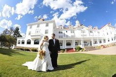 The Stanley Hotel weddings - Price out and compare wedding costs for wedding ceremony and reception venues in Estes Park, Colorado. Wedding Spot, Hotel Wedding, Wedding Ceremony, Wedding Ideas, Wedding Stuff, Reception, Wedding Venue Prices, Wedding Costs, The Stanley Hotel