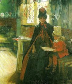 Carl Larsson. Karin and Daughter Suzanne 1887