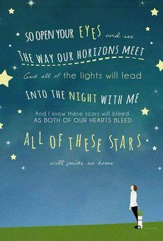 """All of the Stars""-Ed Sheeran Tfios Song Lyric Quotes, Music Lyrics, Music Quotes, Lyric Art, Music Love, Music Is Life, Love Songs, John Green Books, Beautiful Lyrics"