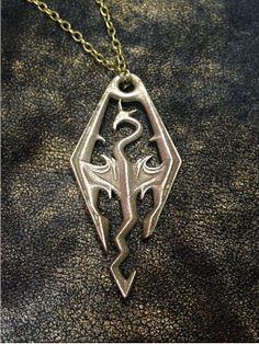 Skyrim dragon pendant!