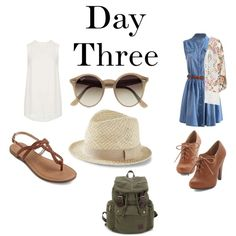 Day Three by sara1096 on Polyvore featuring polyvore fashion style Topshop Ray-Ban Express