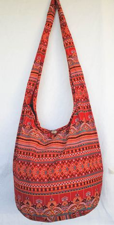 YAAMSTORE THAI red flora hobo hippie boho bag sling by yaamstore