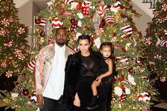Kanye, Kim and North - Christmas Eve