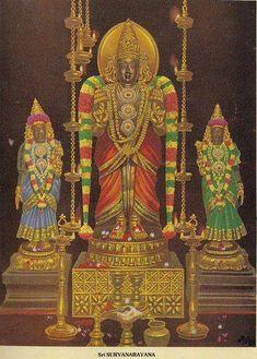 Lord Rangmannar & Godamba 9 x 14 Cm 1960s India Hindu Gods ...