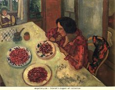 Marc Chagall. Strawberries. Bella and Ida at the Table.