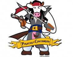 Pirates of the COWibbean Youth T - Youth - T-Shirts :: cows.ca