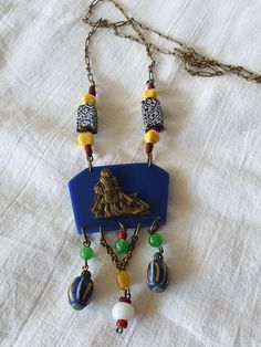 """Galalith and glass, """"Egyptian revival"""" Plastic Jewelry, Egyptian, Drop Earrings, Glass, Collection, Drinkware, Corning Glass, Drop Earring, Yuri"""