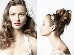 Lots of DIY Hairstyles for brides including classic, boho and vintage hair styles. BHLDN shares their pretty hair adornments and accessories. Updo Hairstyles Tutorials, Vintage Hairstyles Tutorial, Boho Hairstyles, Pretty Hairstyles, Wedding Hairstyles, Hairstyle Ideas, Vintage Wedding Hair, Chic Wedding, Wedding Blog