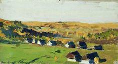 Autumn landscape. Village. - Levitan Isaac