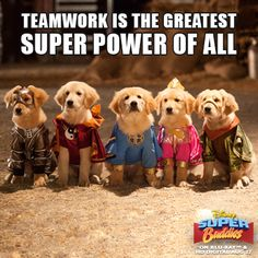 Teamwork is the greatest Super Power of All.