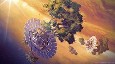 Giant hydroponic on Jupiter, Sylvain Sarrailh on ArtStation at https://www.artstation.com/artwork/P4zk1
