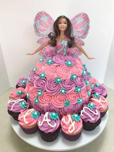 New Birthday Kids Cake Girls Sweets Ideas Barbie Doll Birthday Cake, Fairy Birthday Cake, Pink Birthday Cakes, Homemade Birthday Cakes, Adult Birthday Cakes, Princess Birthday, Sofia Birthday Cake, Birthday Kids, Bolo Barbie