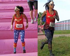 688c822bae8e19 Wonder Woman Inspired Superstar Leggings Costume Pants $19.95 Running  Pants, Running Outfits, Comic Con