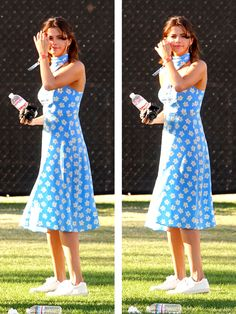 Selena Gomez at Coachella on April 15th, 2017.