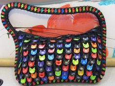 Energetic Little Purse by cindycreativecrochet, via Flickr