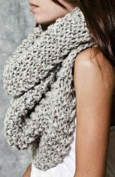 Grey So Cozy Infinity Scarf ❥
