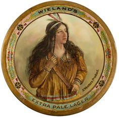 Wieland Brewing Company Beer Tray CA - San Francisco, - c1900 - Saloon