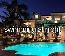 Inspiring picture before i die, night, pool, things to do. Resolution: 500x313 px. Find the picture to your taste!