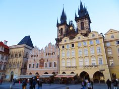 Týn Church is a dominant feature of the Old Town of Prague, Czech Republic