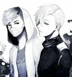 Omg so hot, wait wait, is this kaneki and hide...?