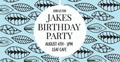 Edit this amazing leaf themed birthday invitation using DesignWizard. Click on the image to personalize it for your special day!