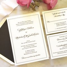 Traditional Wedding Invitation Formal Wedding by blushpaperie