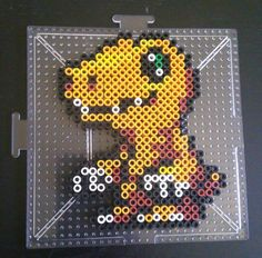 Digimon Adventure - Agumon perler beads by NinjaBunnii99