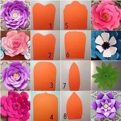 Moldes Para Flores De Papel Gigante 5 Decora Facil Pinterest