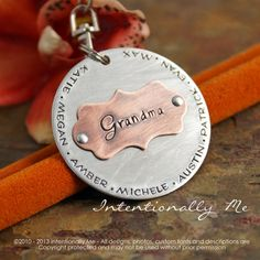 Personalized Key Chain - Hand Stamped - Grandma / Grandpa Key Chain - All our little ones / by IntentionallyMe