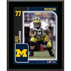 Jake Long Michigan Wolverines Fanatics Authentic 10.5'' x 13'' Sublimated Player Plaque