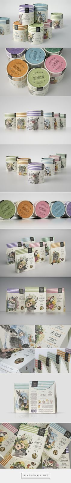 Herbs and Bees packaging by Masha Ponomareva, Maria Mordvintsev, Vera Zvereva